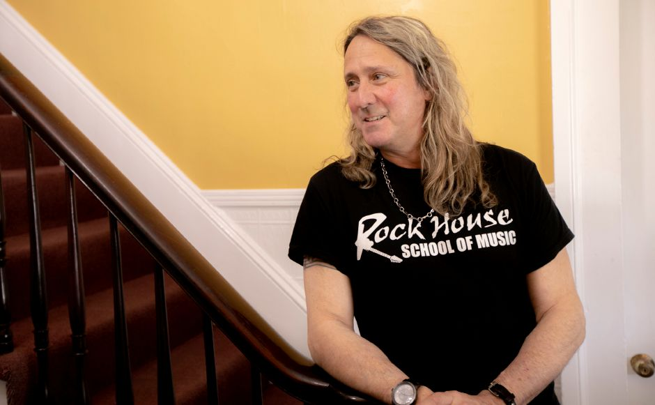John McCarthy, owner of Rock House School of Music, talks about the new business, 393 Center St., Wallingford, Tues., May 7, 2019. Dave Zajac, Record-Journal