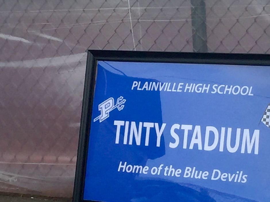 Tinty Stadium at Plainville High School and track during the official opening in June 2016. |Ashley Kus, The Citizen