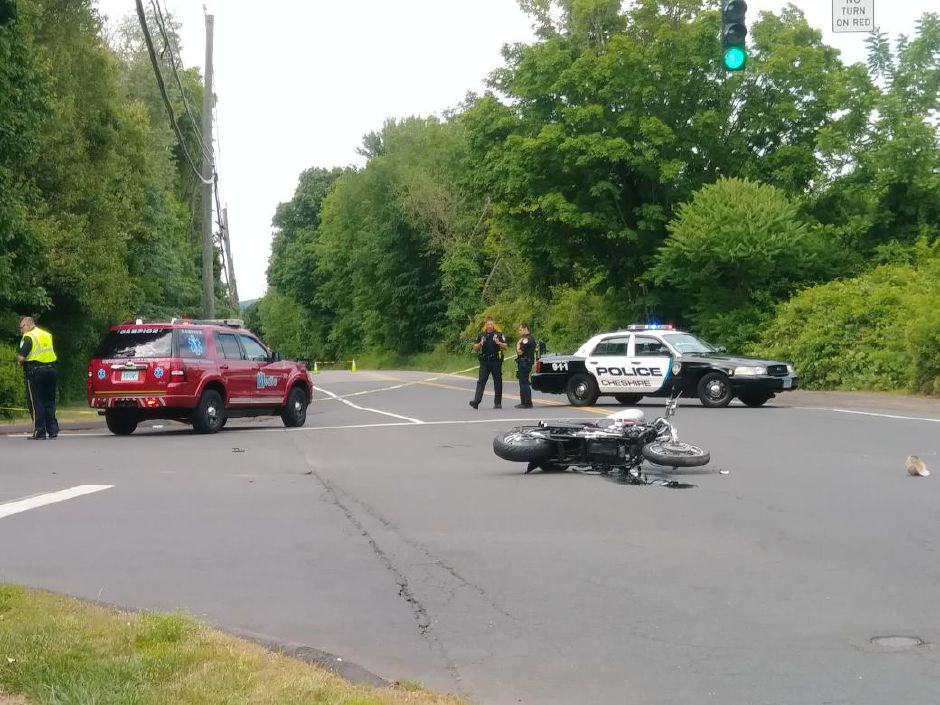 A motorcycle crash has closed the intersection of Route 70 and Country Club Road. | Jeniece Roman, Record-Journal