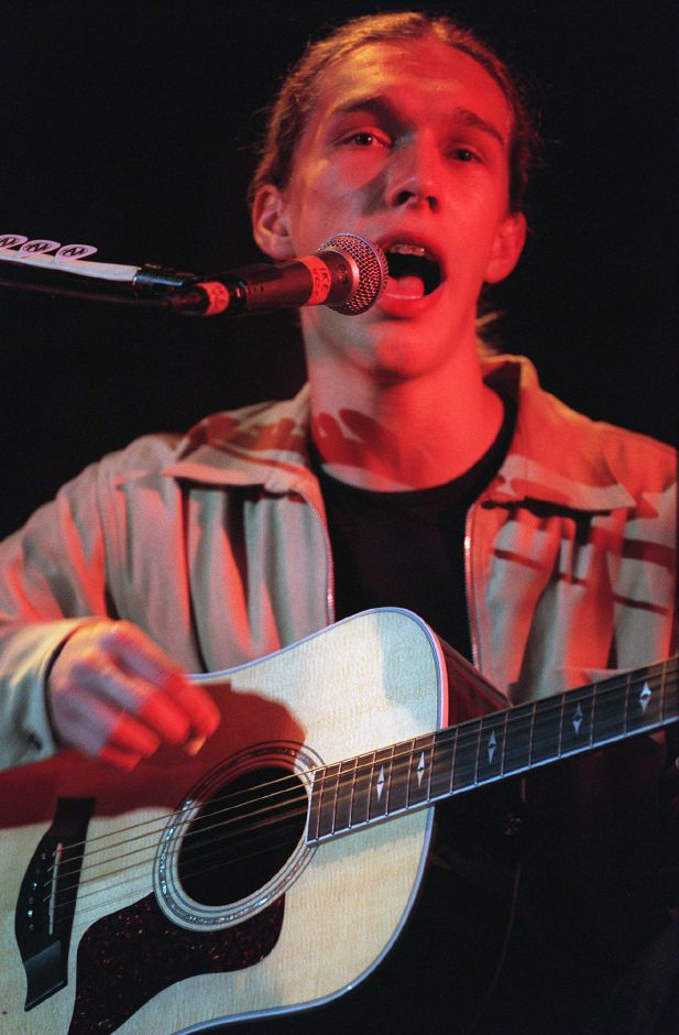 RJ file photo - Isaac, the eldest Hanson, on guitar during the concert in Hartford, Sept. 1998.