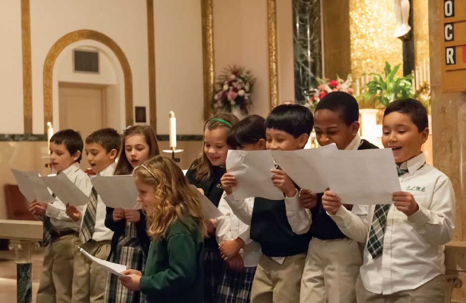 "Students from Our Lady of Mount Carmel School sang, ""I"