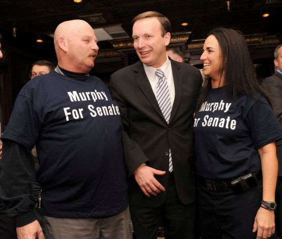 "U.S. Rep. Chris Murphy, D-5th District, center, with supporters Ray Soucy, left, of Naugatuck, and Lisamarie Fontano, of East Hampton, at the Jan. 20, 2011 press conference at which Murphy announced his intention to run for the Senate seat now held by Joe Lieberman. Fontano, president of AFSME Council 4 Local 387, removed Soucy Saturday from his position as union treasurer after she learned of his possible involvement in the ""conduit donor"" scandal that has engulfed state House Speaker Chris Donovan's campaign for Murphy's congressional seat since Donovan's campaign finance manager was arrested Wednesday. Soucy was identified in a Hartford Courant story as ""CC-1"" (co-conspirator 1) in the FBI sting operation that led to the arrest."