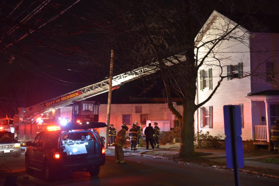 Meriden fire responded to 119 Grove St. Tuesday evening for a small kitchen fire. | Bailey Wright, Record-Journal