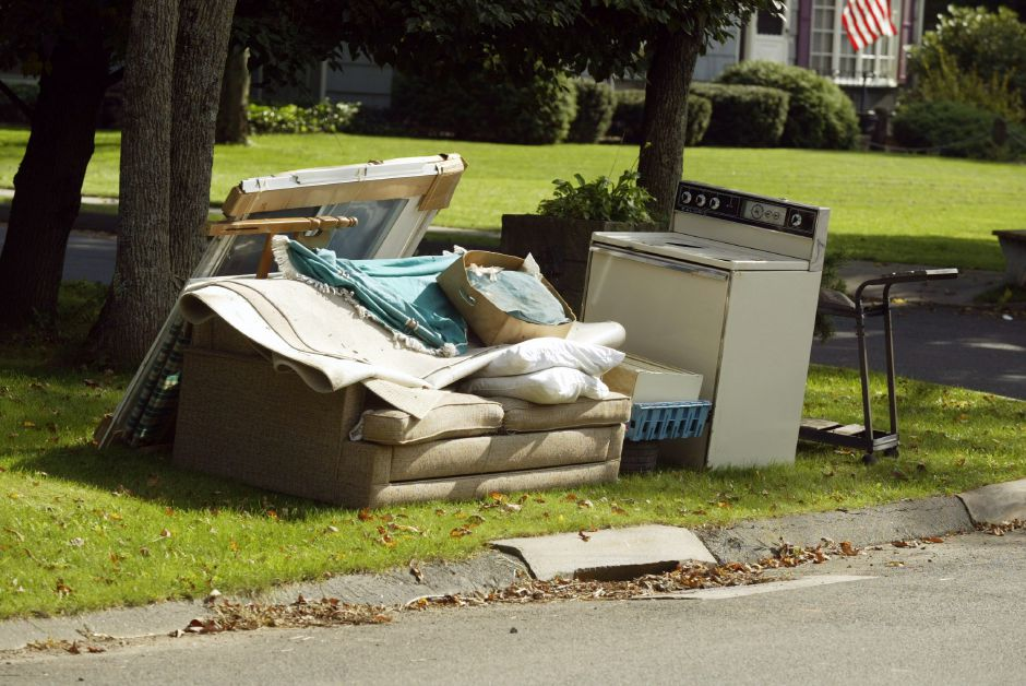 File photo - Bulky waste along a street in Meriden.