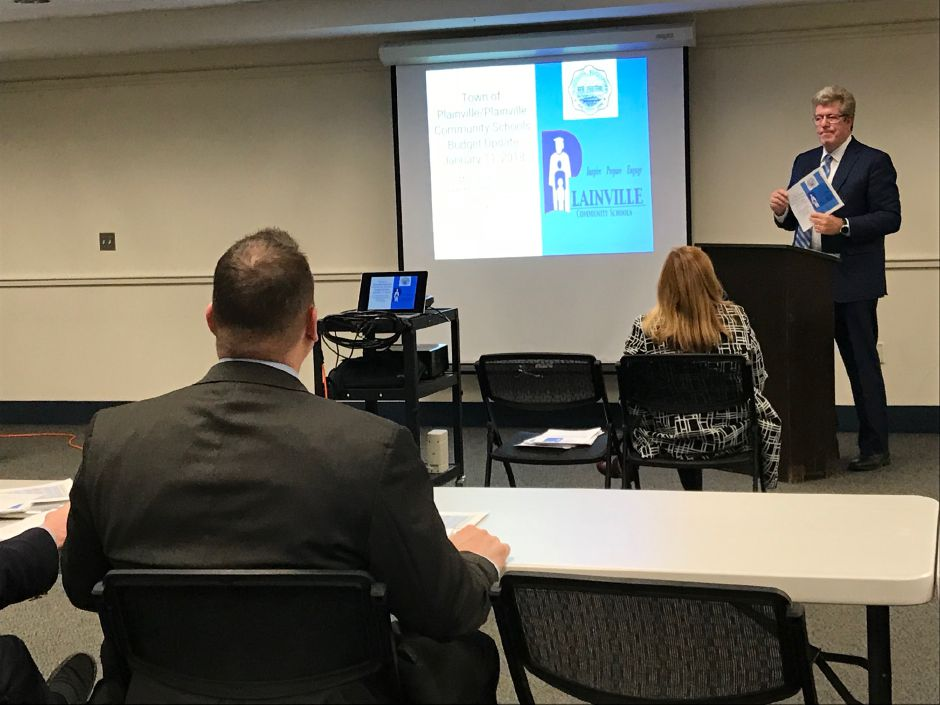 Plainville school board and town council held a joint budget update for the community Thursday, Jan. 11. |Ashley Kus, The Citizen