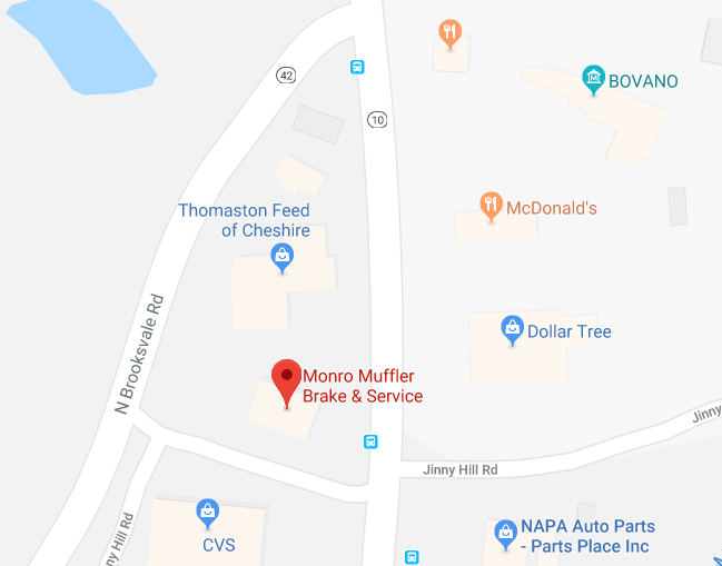 Police are investigating the theft of a vehicle from the parking lot of Monro Muffler, Brake & Service on South Main Street in Cheshire on Saturday afternoon. | Courtesy of Google Maps