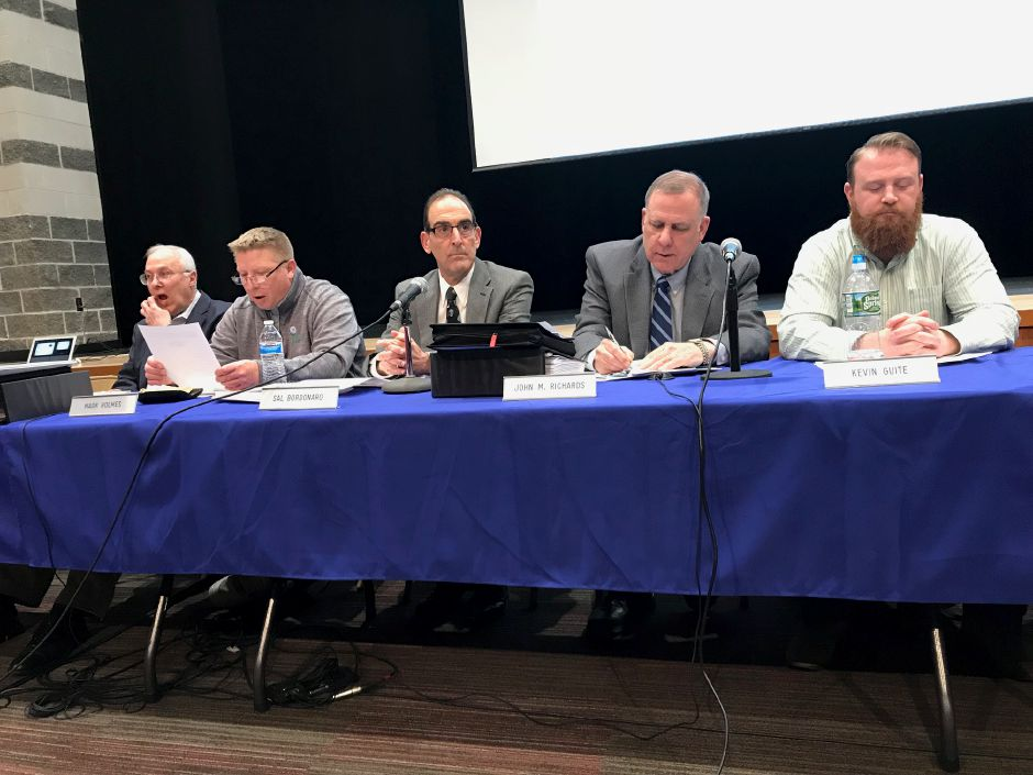 Berlin annual budget hearing at Berlin High School, Tuesday, March 27, 2018. |Ashley Kus, The Citizen