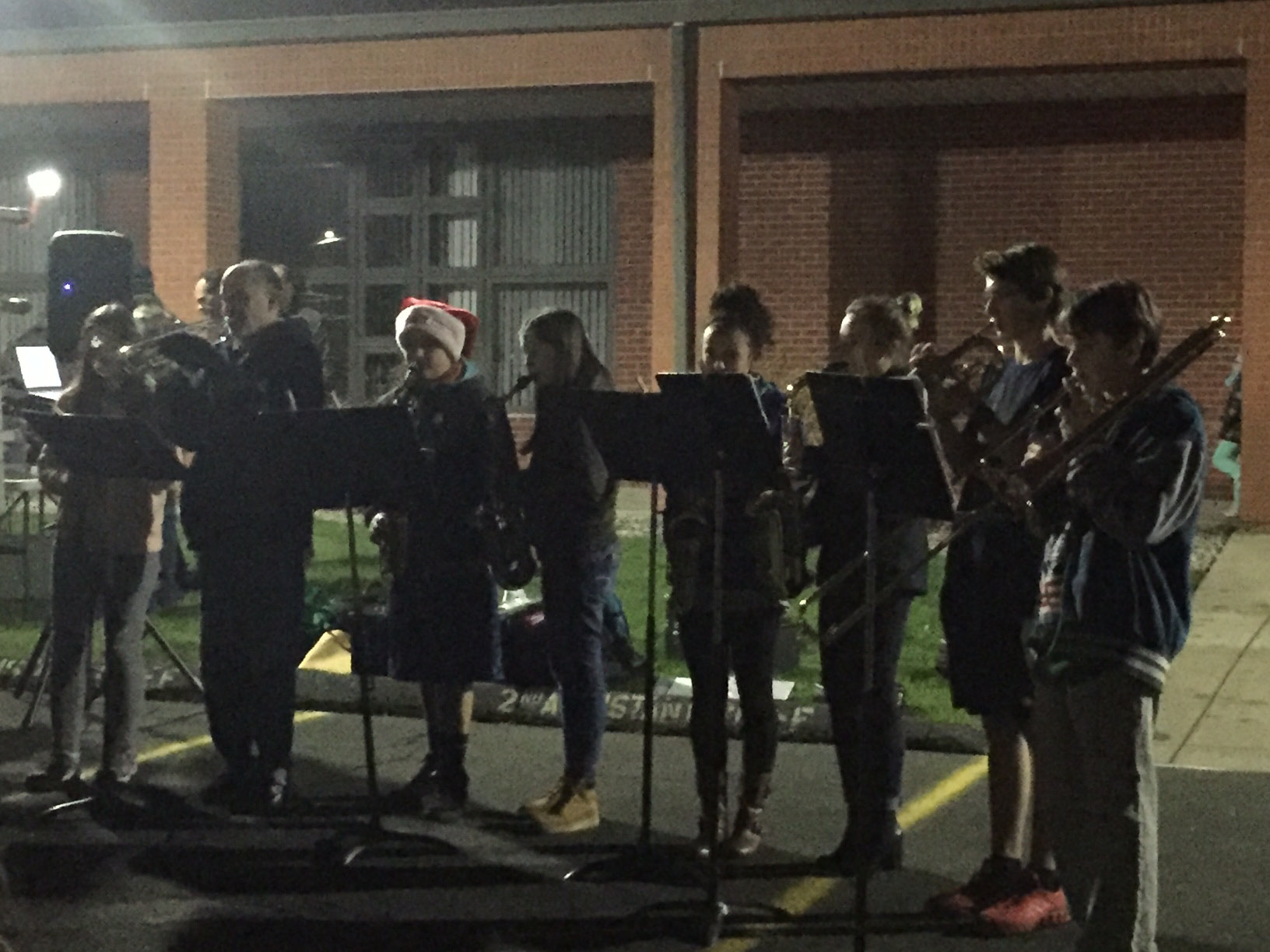 PHS chorus at the Plainville tree lighting event, Thursday, Dec. 1, 2016. |Ashley Kus, The Plainville Citizen.