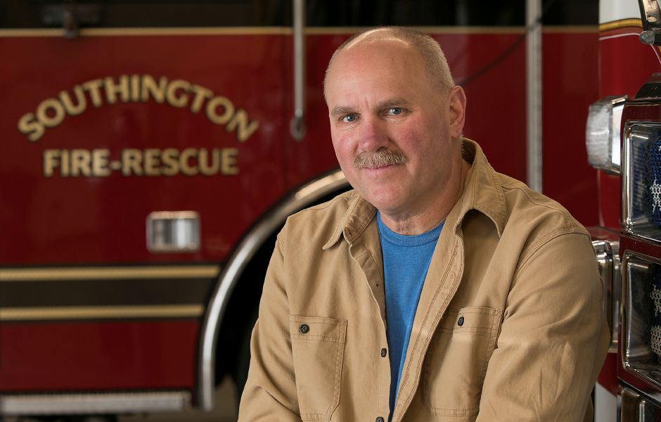Firefighter Lee Dibble, 59, has retired after more than 30 years with the Southington Fire Department. | Dave Zajac, Record-Journal