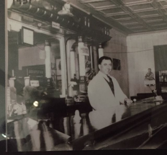 Horace Secondo at his first bar at the corner of Liberty and West Center streets, 1937.