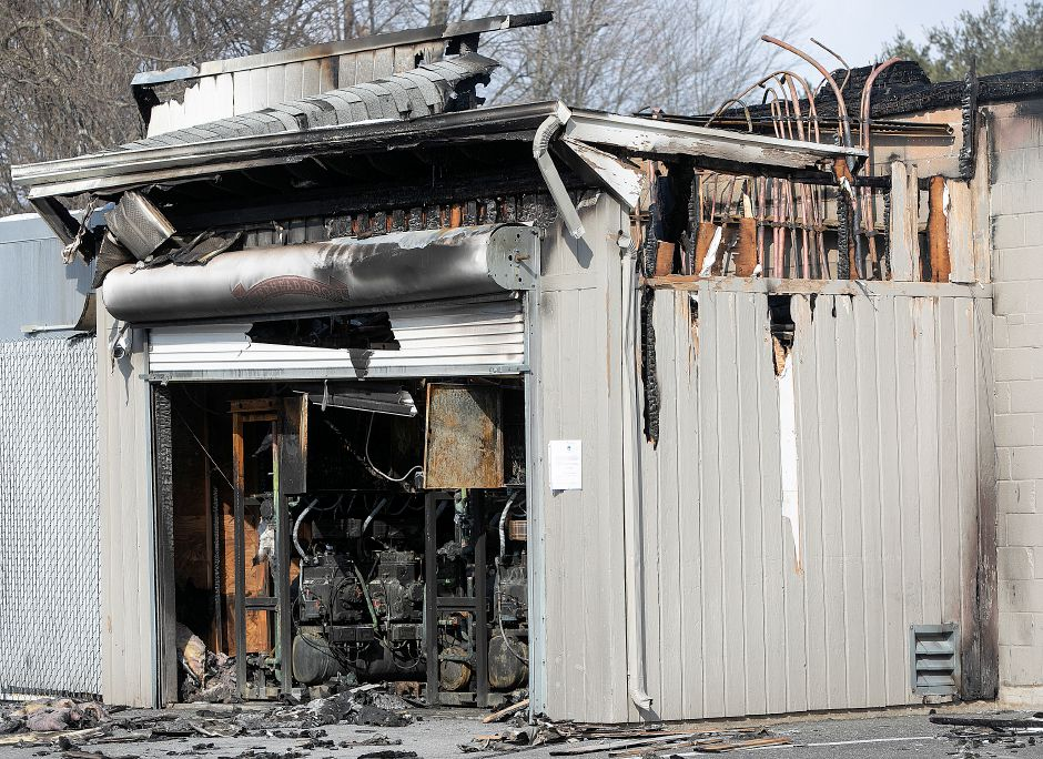 A charred room on the west side of the former Tops Market in Southington, Thurs., Mar. 7, 2019. The business was destroyed by a blaze on Sunday. Dave Zajac, Record-Journal