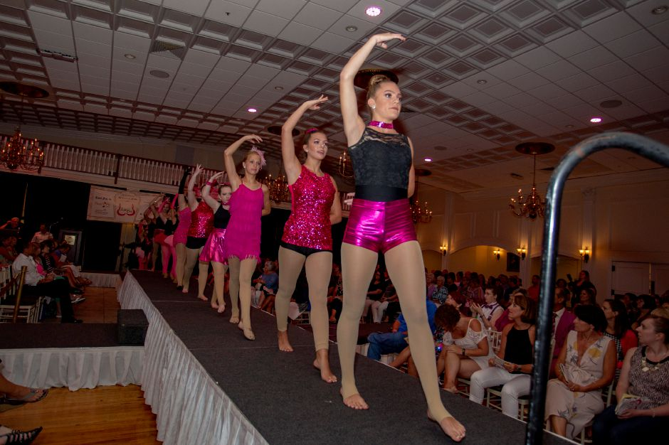 Dancers from The Dance Corner in Killingworth perform to start off Art Bra 2018 at the Aqua Turf Aug. 9, 2018. | Richie Rathsack, Record-Journal
