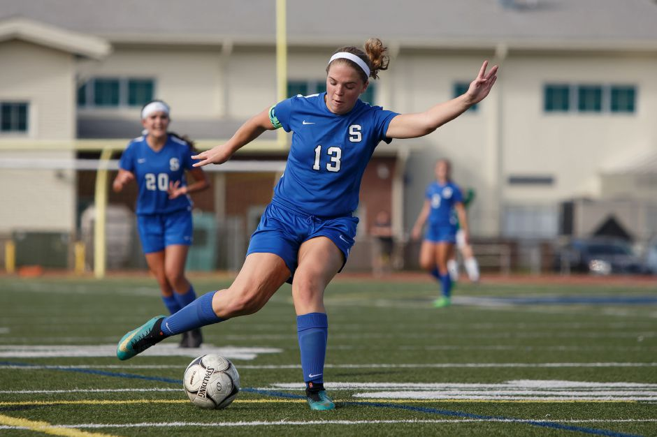Natalie Verderame scored two goals in Southington's 6-0 victory at Hartford Public on Friday. | Justin Weekes / Special to the Record-Journal