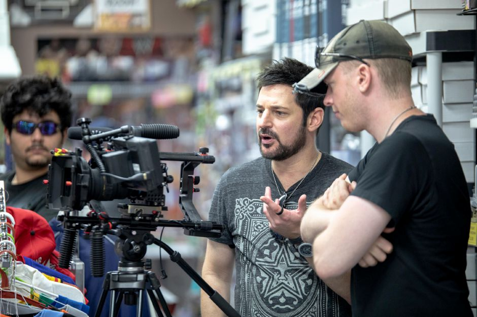Producer David Gere, of Cromwell, and Cinematographer Ryan Sweeney during the filming of their documentary about wrestler Peter Polaco, better known by his wrestling stage name Justin Credible. The documentary, which follows Polaco