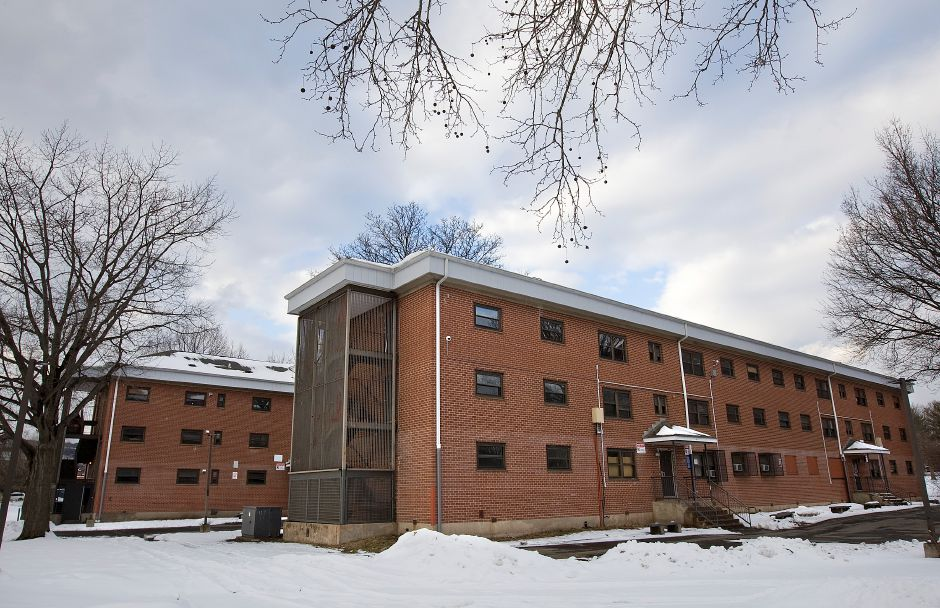 Two vacant low-rise buildings in the Mills Memorial Apartment complex in Meriden, Wednesday, February 10, 2016. The U.S. Department of Housing and Urban Development has approved the demolition of both buildings. | Dave Zajac / Record-Journal