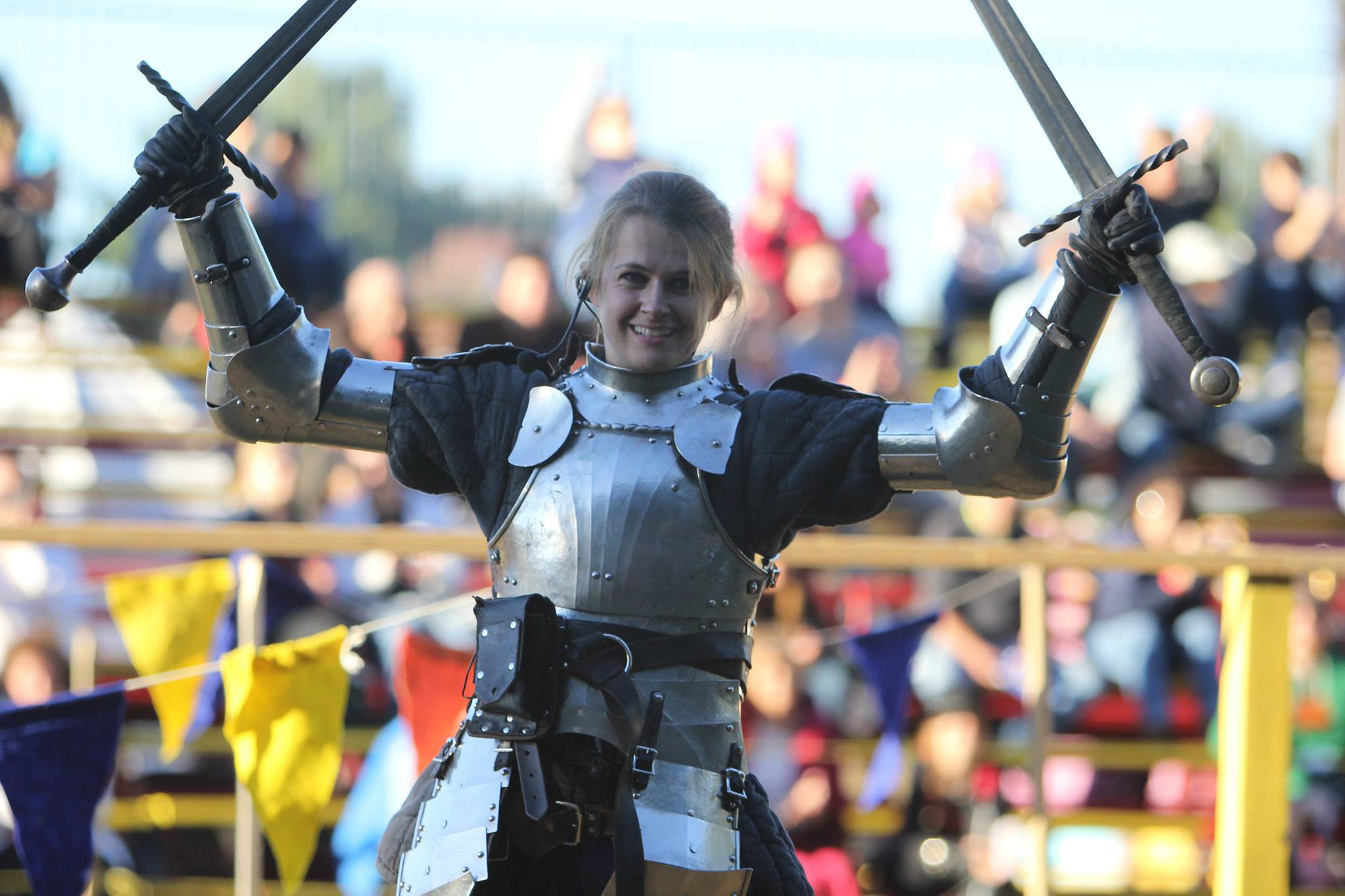 You can see knights in shining armor at the Renaissance Faire every weekend in October.