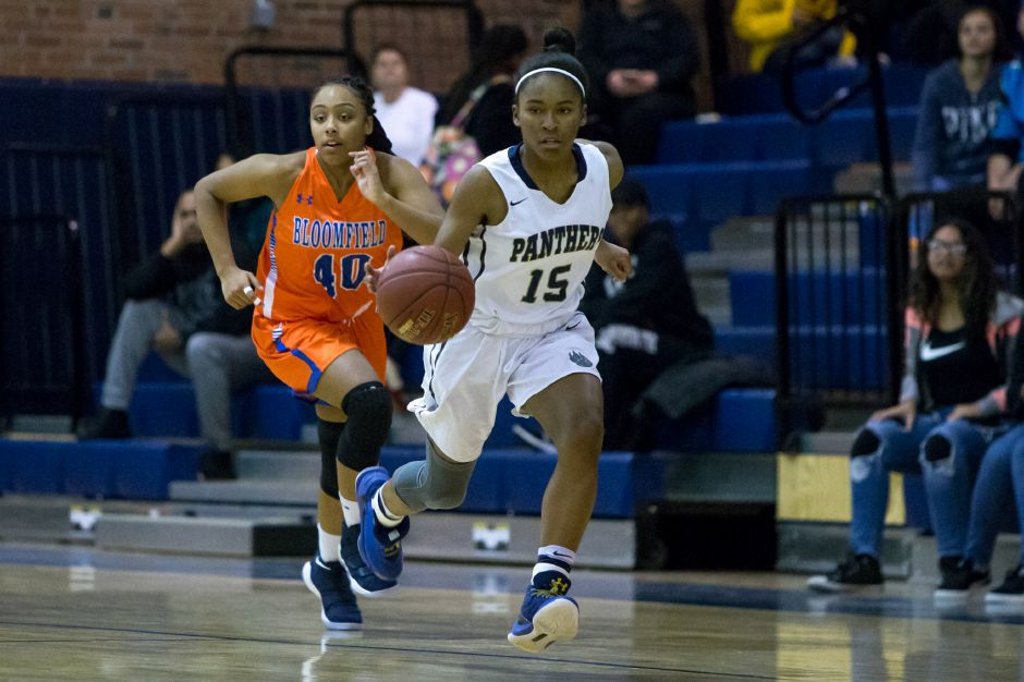 Martha Chatman and the Platt Panthers hit the 10-win plateau with Thursday night's 47-28 victory over Bristol Central. | Justin Weekes / Special to the Record-Journal