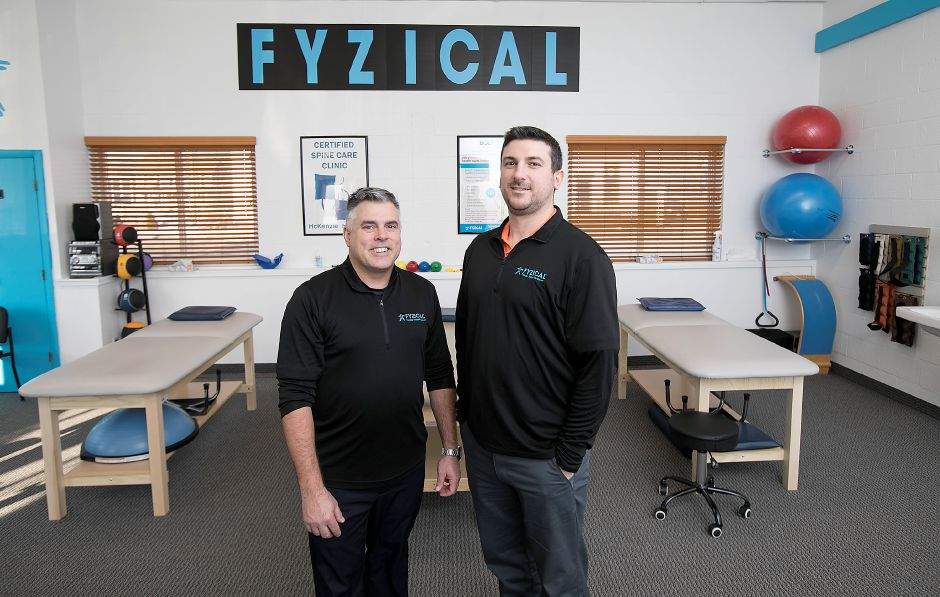 Craig Zettergren, left, and Keith Sobkowiak, owners of Fyzical Therapy and Balance Center.