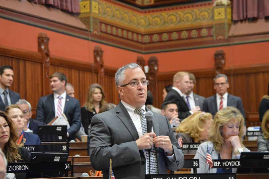 Rep. Vincent Candelora, R-North Haven, said during a budget debate Thursday at the Capitol that the bipartisan deal isn