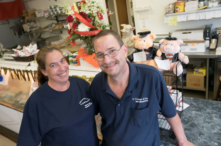 Walter and Patti Paluszewski, owners of V. Czapiga & Son in Meriden, Friday, June 22, 2018. The business is celebrating 100 years. Dave Zajac, Record-Journal