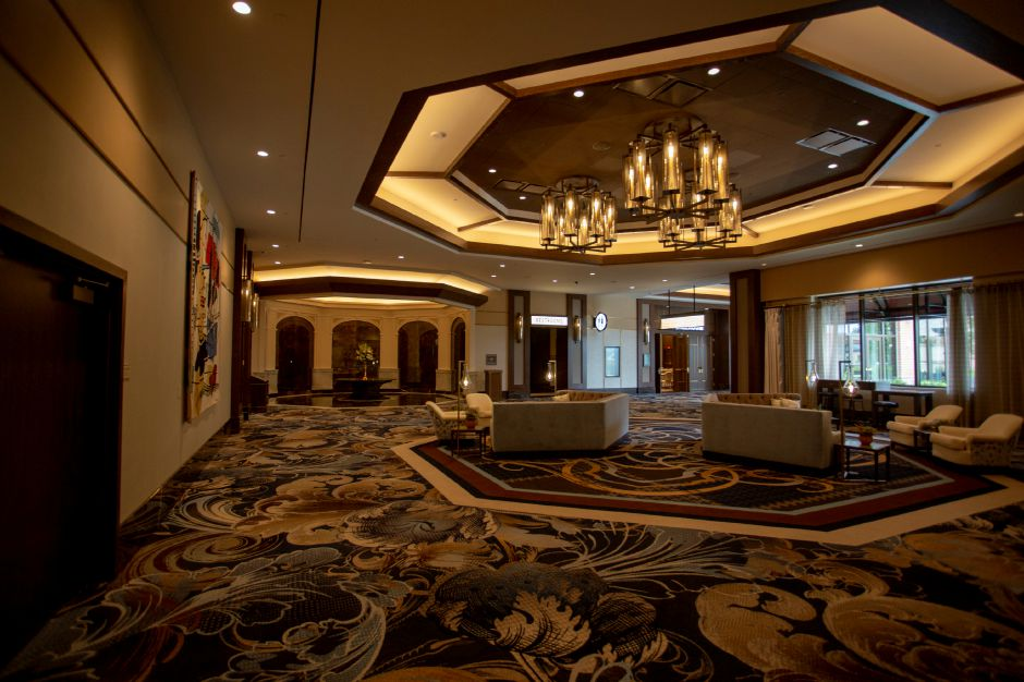 A look in the lobby of the conference center at MGM Springfield. | Richie Rathsack, Record-Journal