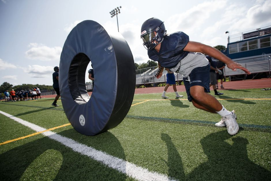 Senior Louis Ferri wil be a key player for the Trojans this season at running back and linebacker. Justin Weekes, Special to the Record-Journal