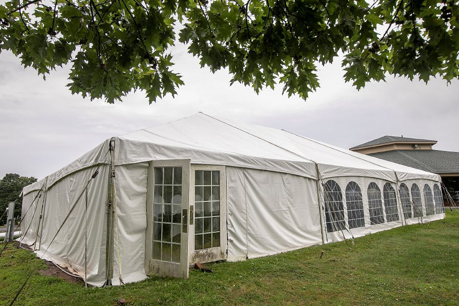 A seasonal tent next to Violi