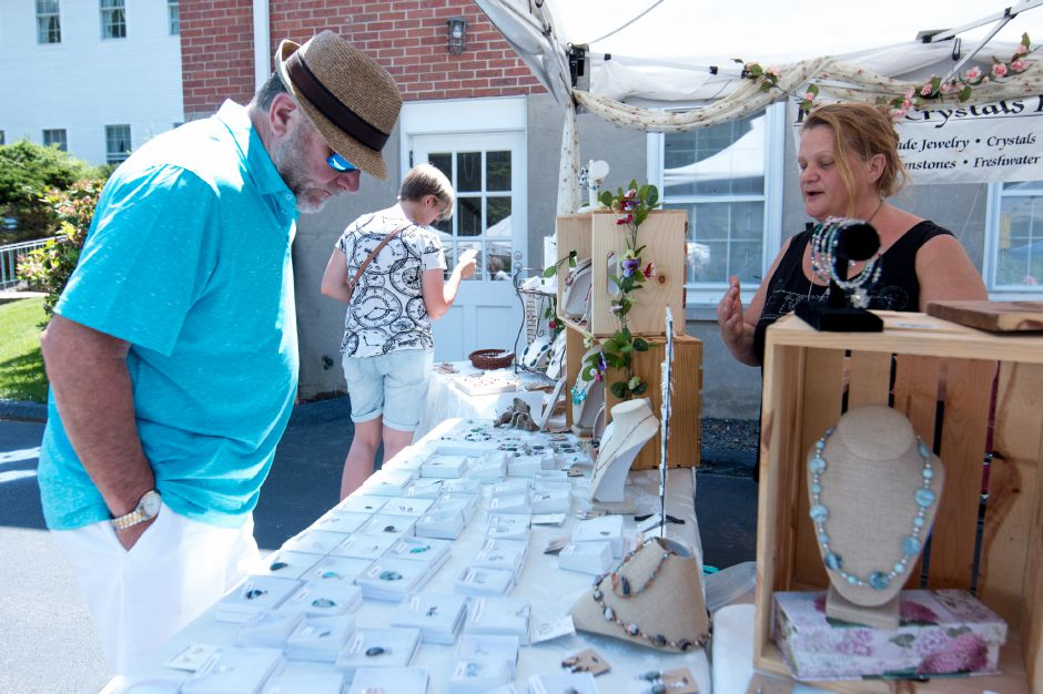 Vendors brought treats and jewelry to Kensington Congregational Church's Festival on the Hill on June 10, 2017. | Devin Leith-Yessian/Record-Journal