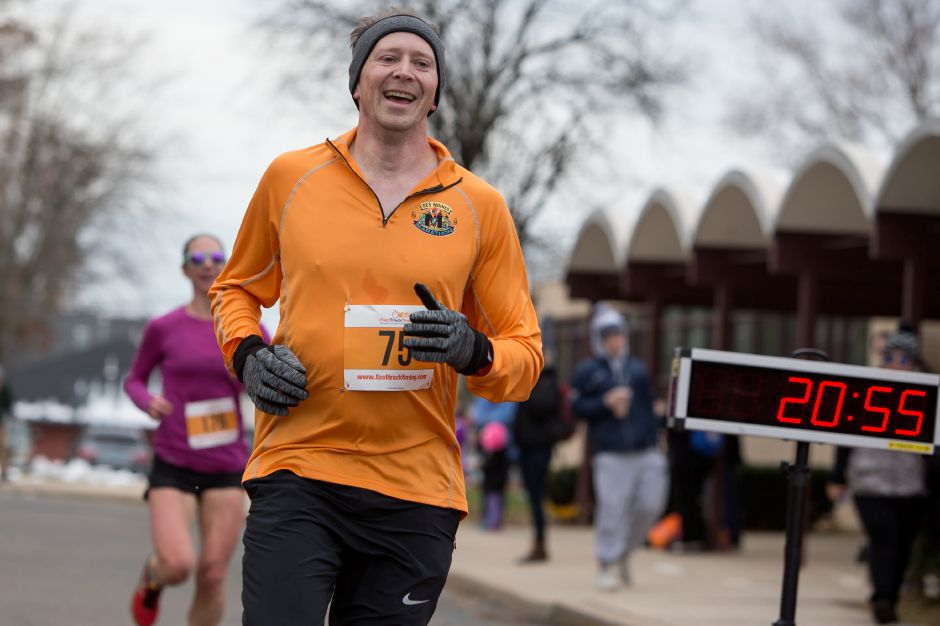 Walter Schwarz of Wallingford finished first for the men Sunday during the Kiwanis Turkey Trot in Wallingford November 18, 2018 | Justin Weekes / Special to the Record-Journal