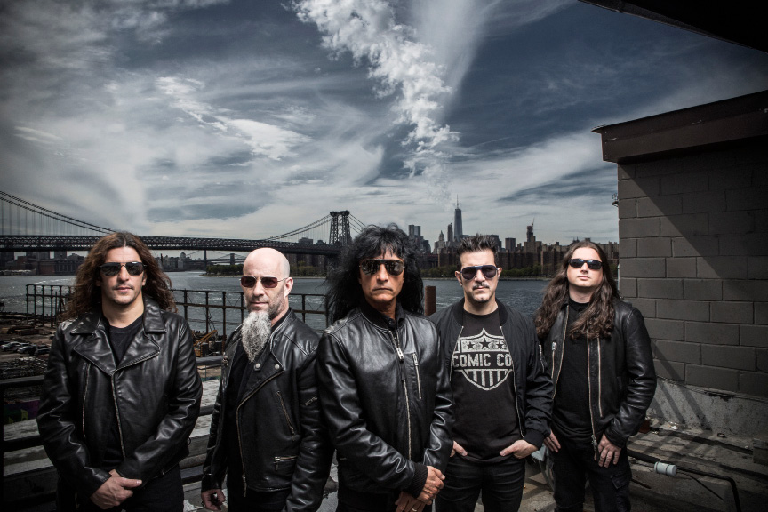 Metal band Anthrax will be playing at the Oakdale in Wallingford on April 4. | Photo courtesy of Anthrax
