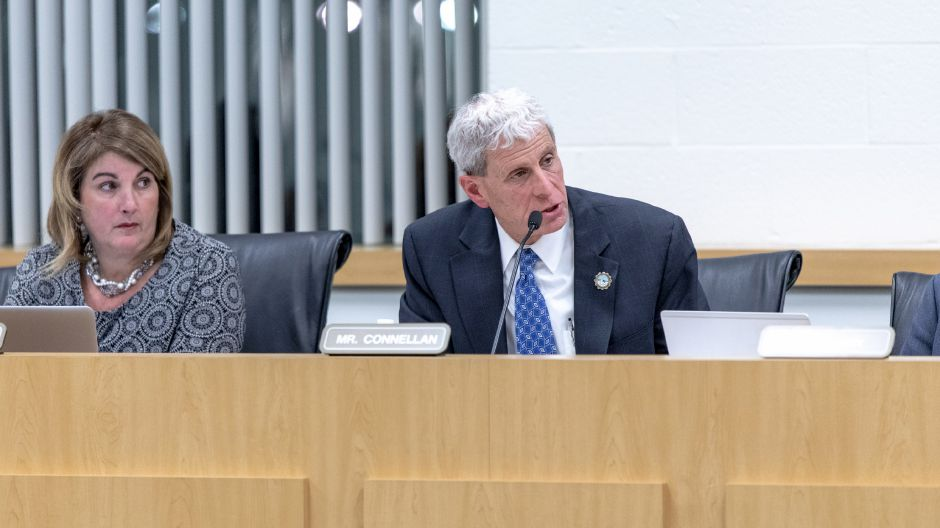FILE PHOTO: Southington Superintendent of Schools Tim Connellan speaks after parents and students shared feeling discriminated against in the school system. They shared their experiences at a Board of Education meeting on Jan 10, 2019. | Devin Leith-Yessian/Record-Journal