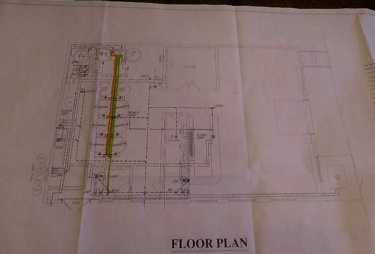 The floor plan for Center Street Brewing Company, 25 Wallace Ave., Wallingford. |Ashley Kus, Record-Journal
