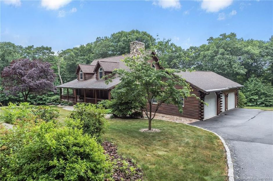 on the market a 3 bedroom log cabin on 5 acres in southington