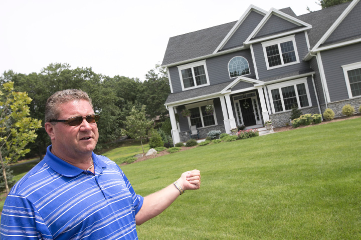 Local developer Mark Lovley shows a home he recently sold at North Ridge Golf Club in Southington, Monday, August 14, 2017.  | Dave Zajac, Record-Journal