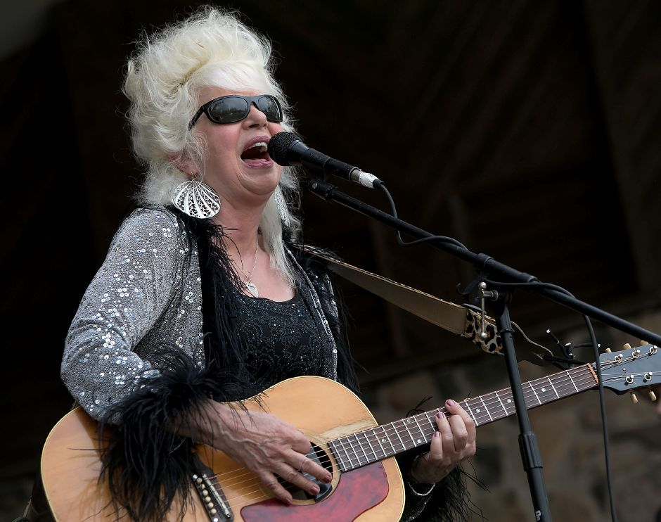 Christine Ohlman & Rebel Montez perform at the bandshell during the 39th annual Daffodil Festival at Hubbard Park in Meriden, Saturday, April 29, 2017. | Dave Zajac, Record-Journal