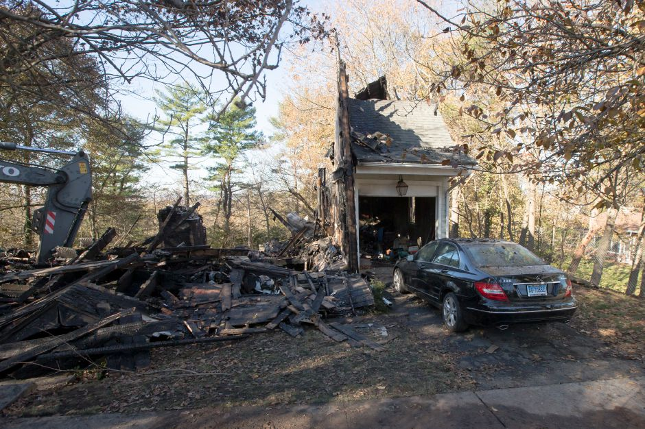 A house at 161 Carpenter Street in Meriden was completely destroyed by fire early Thursday morning. Officials reported the fire claimed one life. November 24, 2017 | Justin Weekes / For the Record-Journal