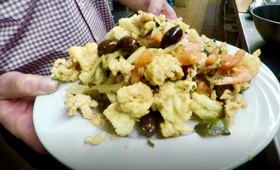 A fried calamari appetizer served at Adelphia Cafe, 476 Washington Ave, North Haven. |Ashley Kus, Record-Journal