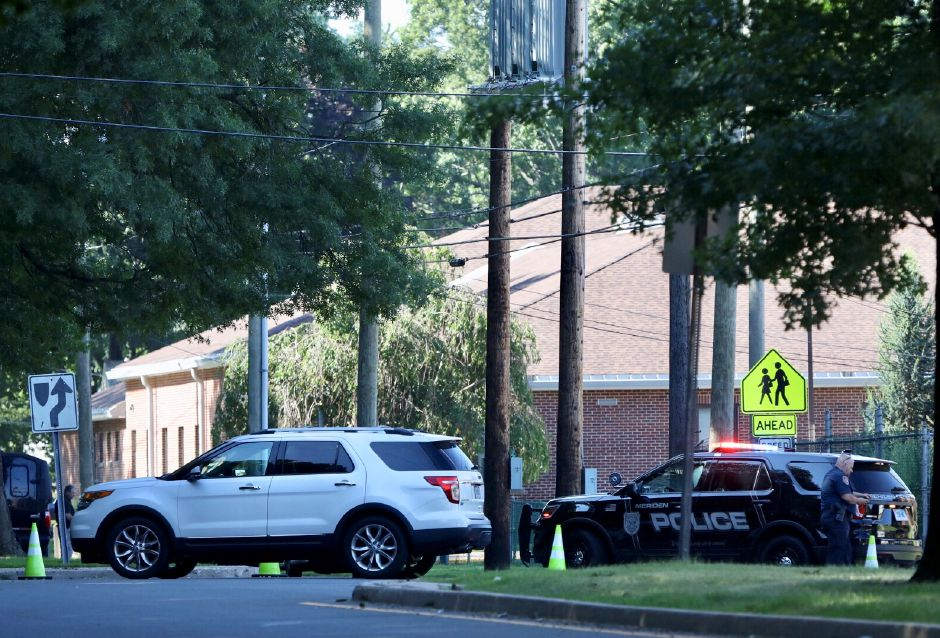 Local and state police are investigating after a suspicious package was found outside Israel Putnam Elementary School Thursday morning. | Dave Zajac, Record-Journal