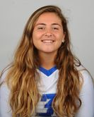Lindsey Massicotte of Meriden finished her volleyball career at CCSU on the top 10 list for digs. She holds the school's single-match record. Photo courtesy CCSU