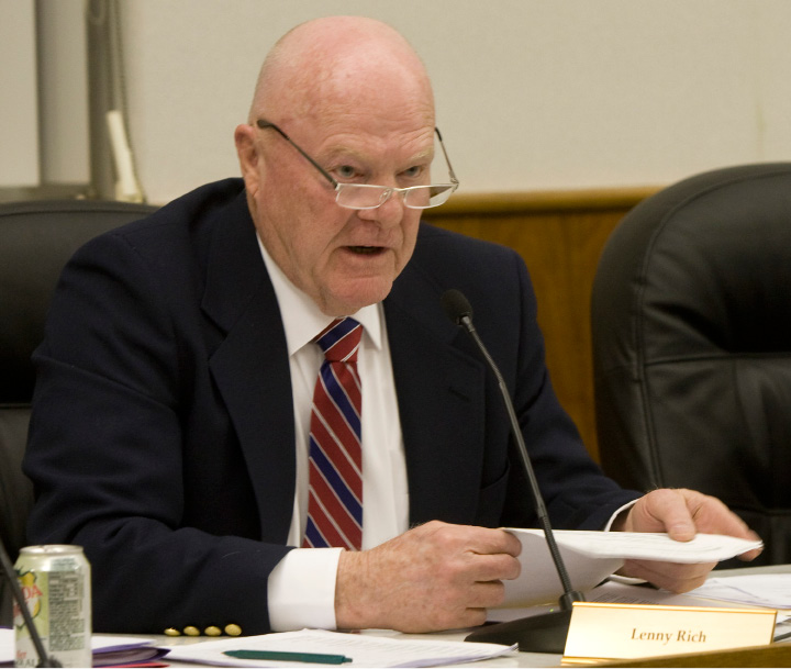 Republican Lenny Rich speaks during a City Council meeting Monday, March 17, 2014.   |  Dave Zajac / Record-Journal