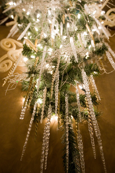 Ice crystal decorations adorn a hallway as part of an extensive holiday display at Cava Restaurant in Southington Wednesday, November 30, 2016.  | Dave Zajac, Record-Journal