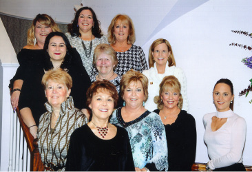 First row: Judi Gallagher, Debbie Papale, Mary Gilson, Johnna Schlosser, and Casey Wiegert; second row: Liz Benham, Mara Dunleavy, and Paula Feeney-Puig; third row: Chris Pretti, Denise Baker, and Erin Benham.