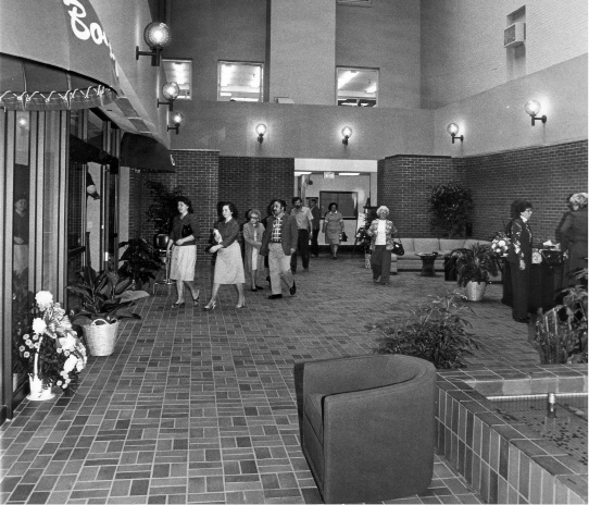 The Meriden-Wallingford Hospital lobby as seen in 1984. | Record-Journal Archive