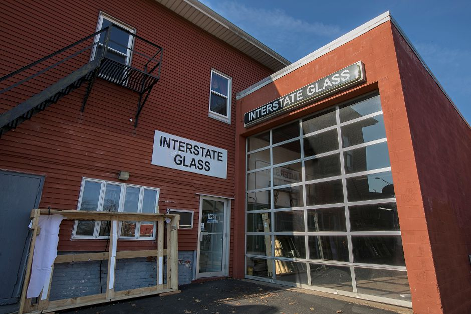 Interstate Glass at 111 Hanover St. in Meriden , Monday, Dec. 4, 2017. Interstate Glass will be expanding into the historical firehouse next door. Dave Zajac, Record-Journal