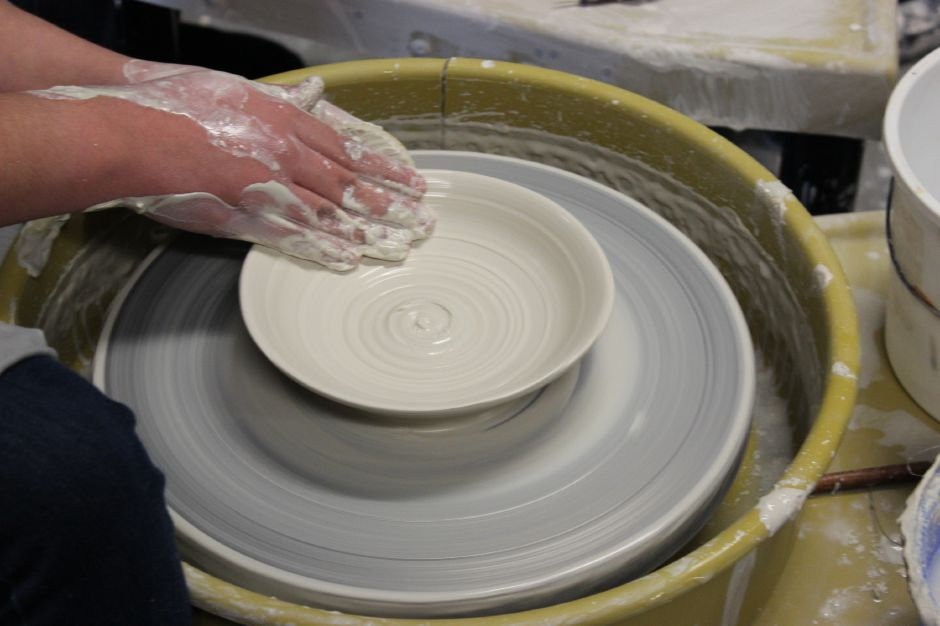 Berlin High School makes bowls for fundraiser. |Caitlin DeSorbo, contributed