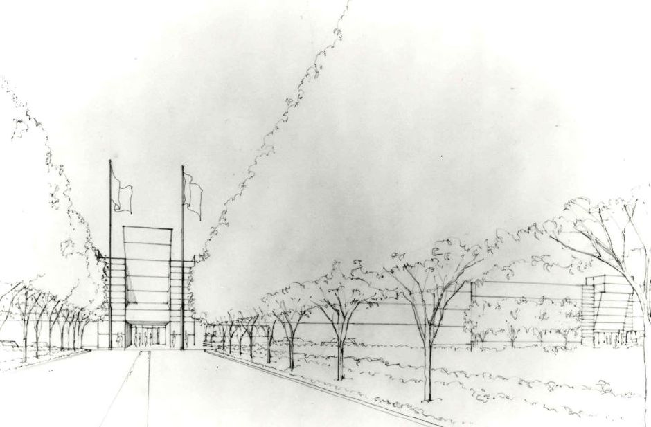 A sketch of the proposed Apple Valley mall.