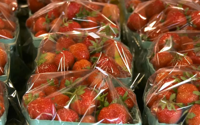 Fresh farm strawberries at Connecticut Fresh Food & Produce Market, 920 South Colony Road, Wallingford. |Ashley Kus, Record-Journal
