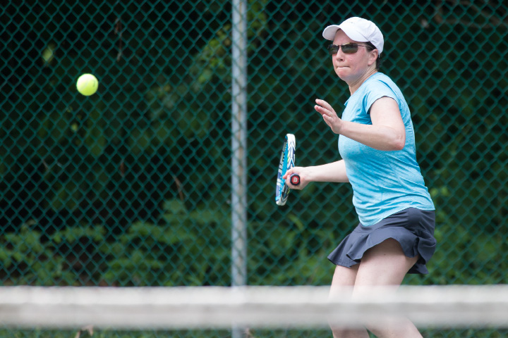 Juliet Burdelski works her way to the Women A Singles title Sunday. | Photos by Justin Weekes, Special to the Record-Journal