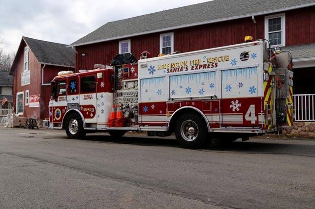 The Santa Express rolls into town starting tomorrow. Pictured at A.S Labieniec Pet Supply in Berlin. |Kensington Fire Rescue