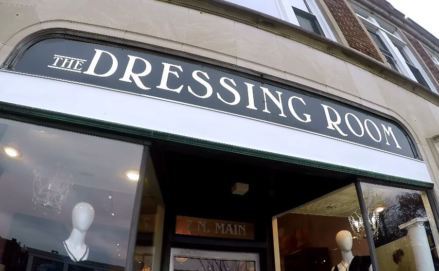 The Dressing Room is one of over a dozen businesses that will be participating in this year's Wallingford Holiday Window and Porch Display Contest. |Ashley Kus, Record-Journal